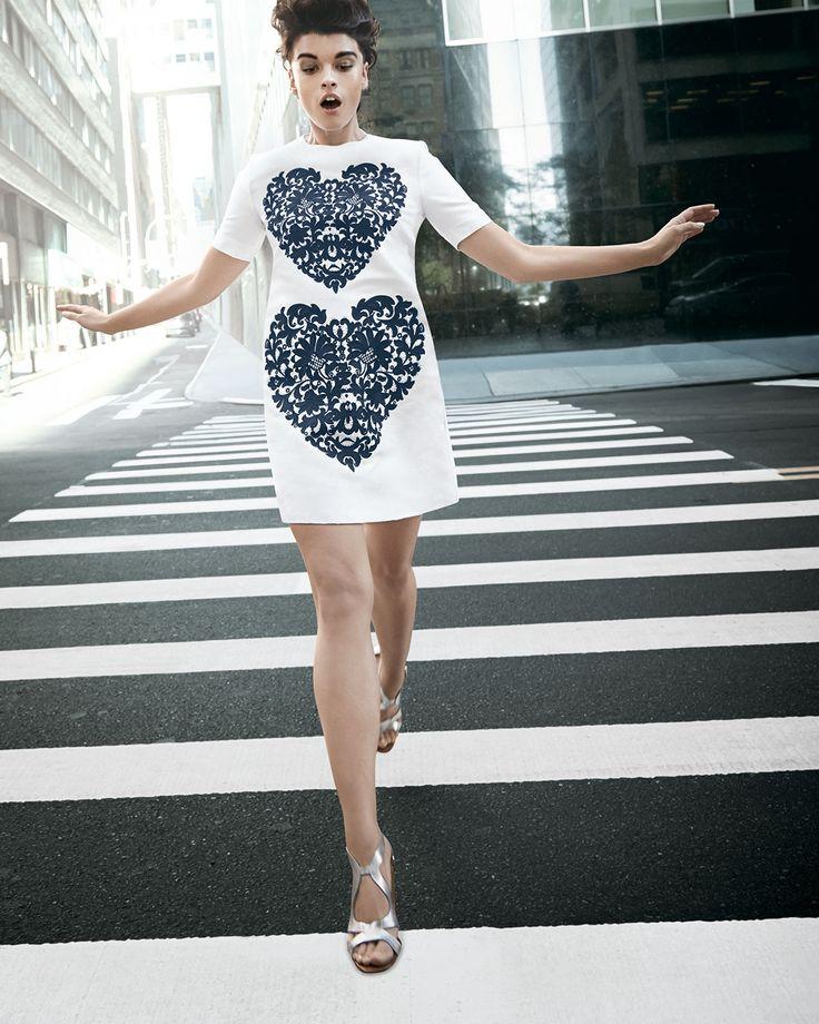 Stella McCartney Lace-heart shift dress.