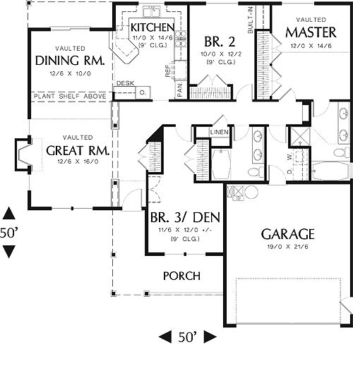 50 best house plans under 1800 sq ft images on pinterest for 1800 sq ft house plans open concept