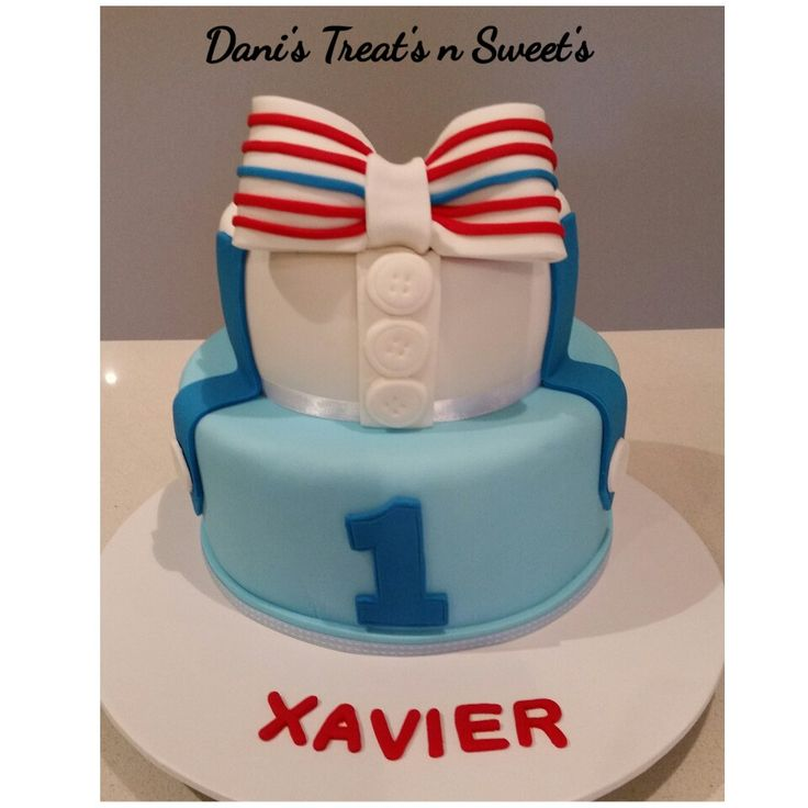 Little man bow tie cake