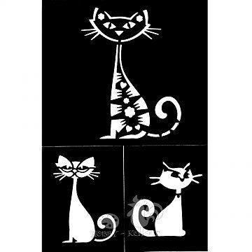 Šablony samolepící - Kočky