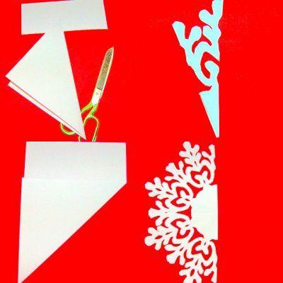 snowflakes kirigami