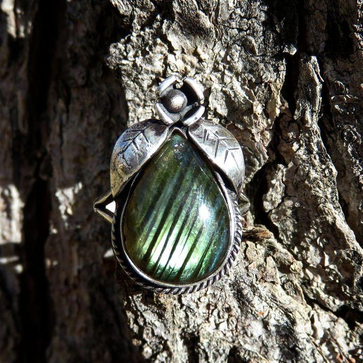 Forest Flower Labradorite Ring