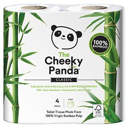 The Cheeky Panda Toilet Tissue - 4 RollsUK Supplier