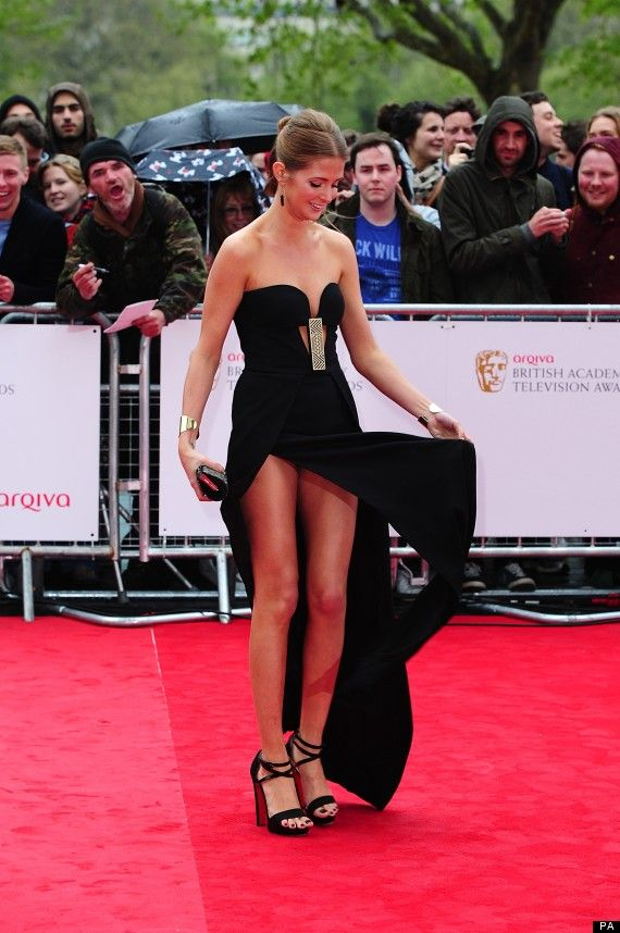 BAFTA 2013: Made In Chelseas Millie Mackintosh Narrowly Escapes Wardrobe Malfunction (PICTURES)