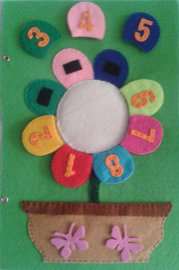 Vorgangsnummer Blume Buch pädagogische von LaTiendaDeLore auf Etsy