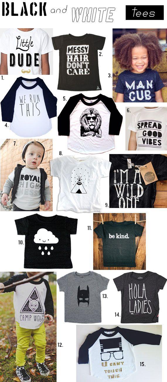 Black & White Badass Tees for Kids