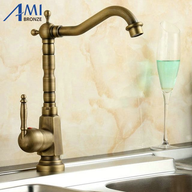 promo home improvement accessories antique brass kitchen faucet 360 swivel bathroom basin single hole - Kohler Armaturen L Eingerieben Bronze