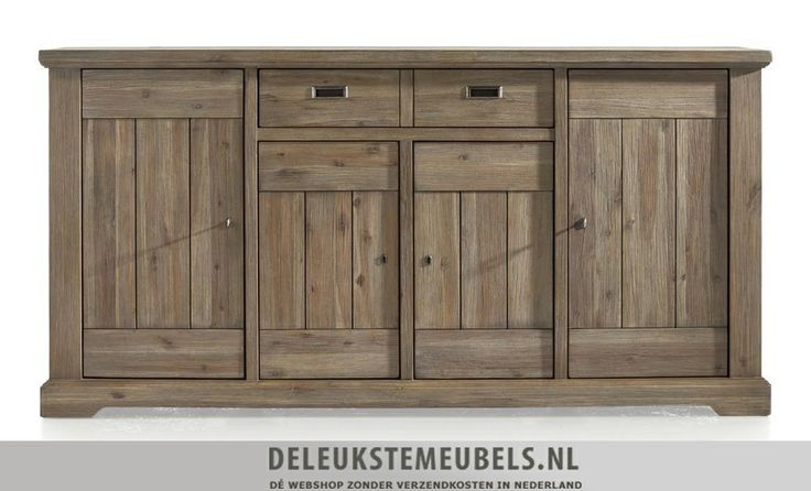 Dressoir Bandon 180cm van het merk Happy@Home. Dit dressoir heeft vier deuren met daarachter een plank en twee laden. De laden zijn keerbaar waardoor je ze kunt veranderen naar een mat witte lade. Snel leverbaar! http://www.deleukstemeubels.nl/nl/bandon-dressoir-180cm/g6/p1140/