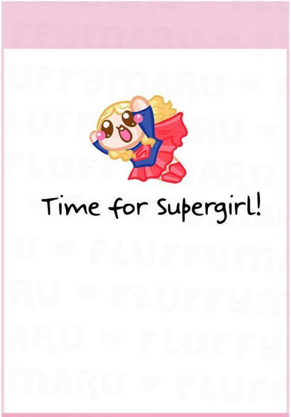 Supergirl TV Series Reminder Sampler  Planner Stickers Cute