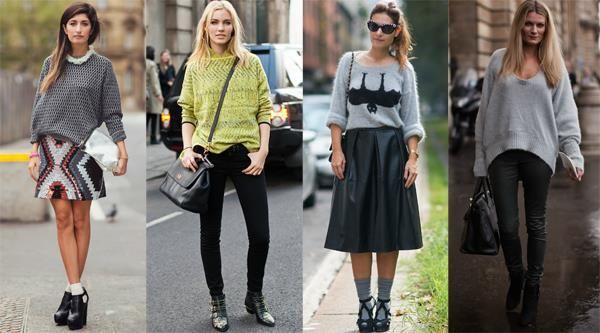 Женские объемные свитера больших размеров