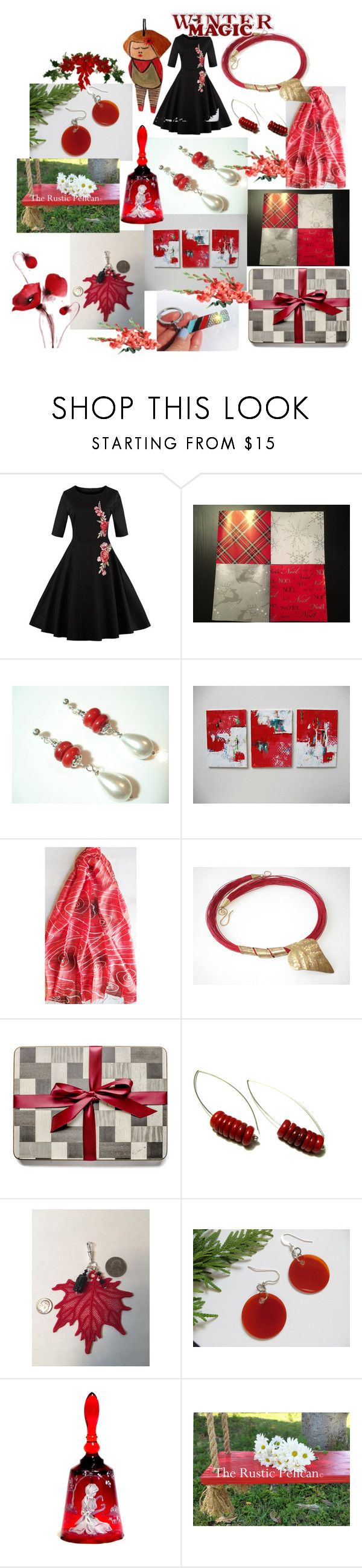 """Holidays Gifts"" by anna-recycle ❤ liked on Polyvore featuring Hostess, BMW, modern, rustic and vintage"