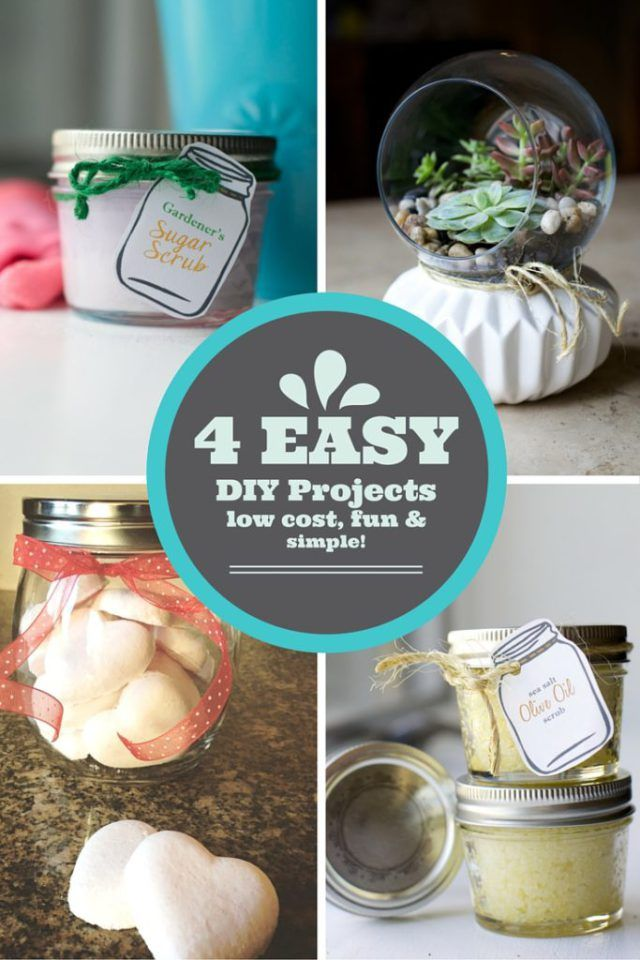 Looking for EASY DIY Craft projects that don't break the bank? Here are 4 EASY DIY projects that are Low Cost, CHEAP, EASY and SIMPLE to make! Great for mom, Mother's Day, Sisters, Girls, or anyone! Easy and for all ages. Great Quick little gifts for all! ENJOY!
