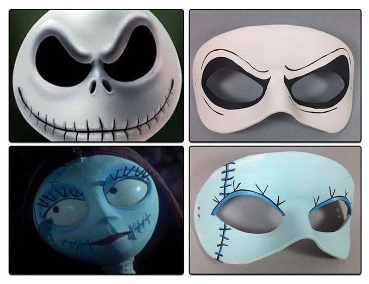 Nightmare Before Christmas masquerade masks by maskedzone.deviantart.com on @deviantART