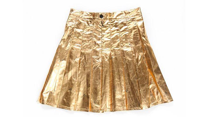 Gold Angel Skirt | Znaffle, #Znaffle, #BeckyG, #StealHerStyle, #WhatStarsWear, Spot this item in the original music video, http://znaffle.com/videos/becky-g-becky-from-the-block-536