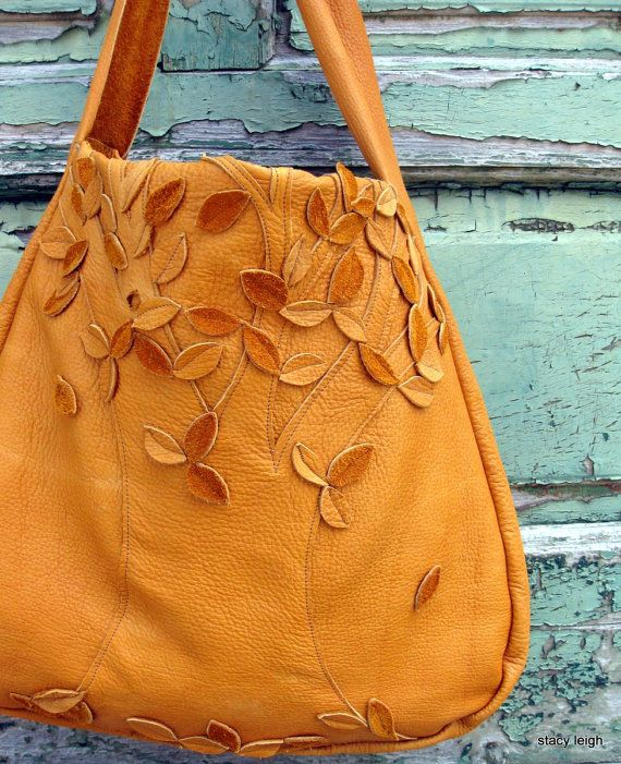Lone Tree Elk Leather Bag in Dusk by Stacy Leigh by stacyleigh, $350.00