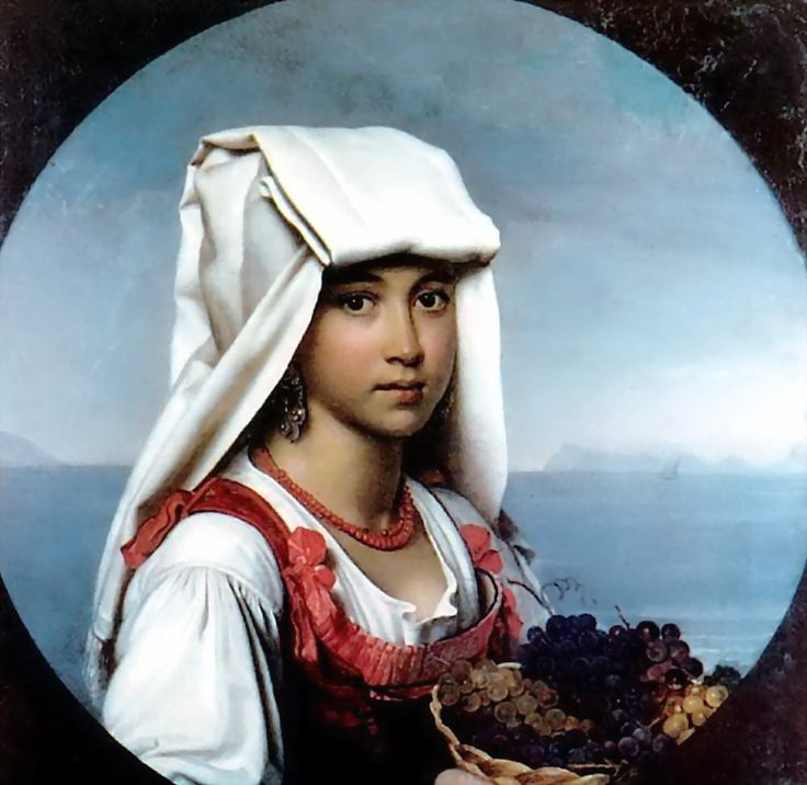 Neapolitan girl with the fruits  - Orest Kiprensky