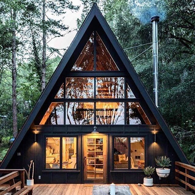 Do It Yourself Home Design: Amazing A Frame Cabin 😊😊 Via @off.grid.architecture