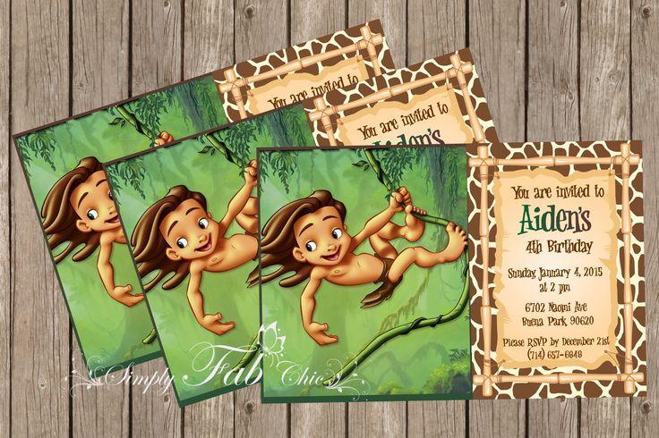 Tarzan II Young Baby Tarzan Birthday Invitation