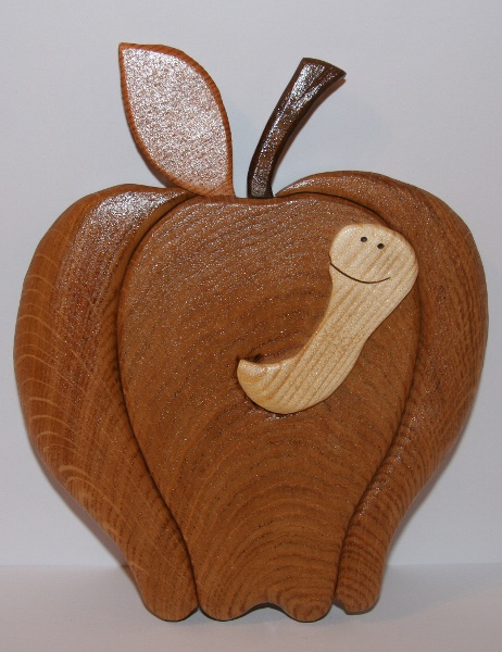 Apple With Worm Handmade On The Scroll Saw 163 12 50 Crafts