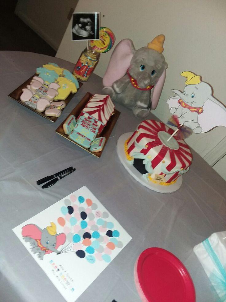 Dumbo Baby Shower Cake Table