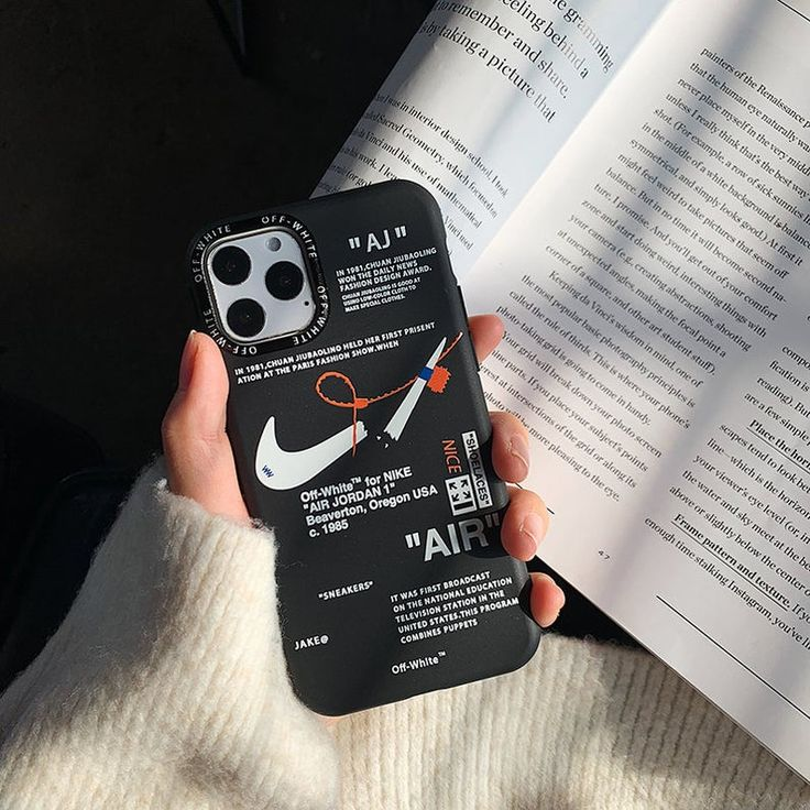 Hypebeast nike 0ffwhite 3d iphone silicone case for