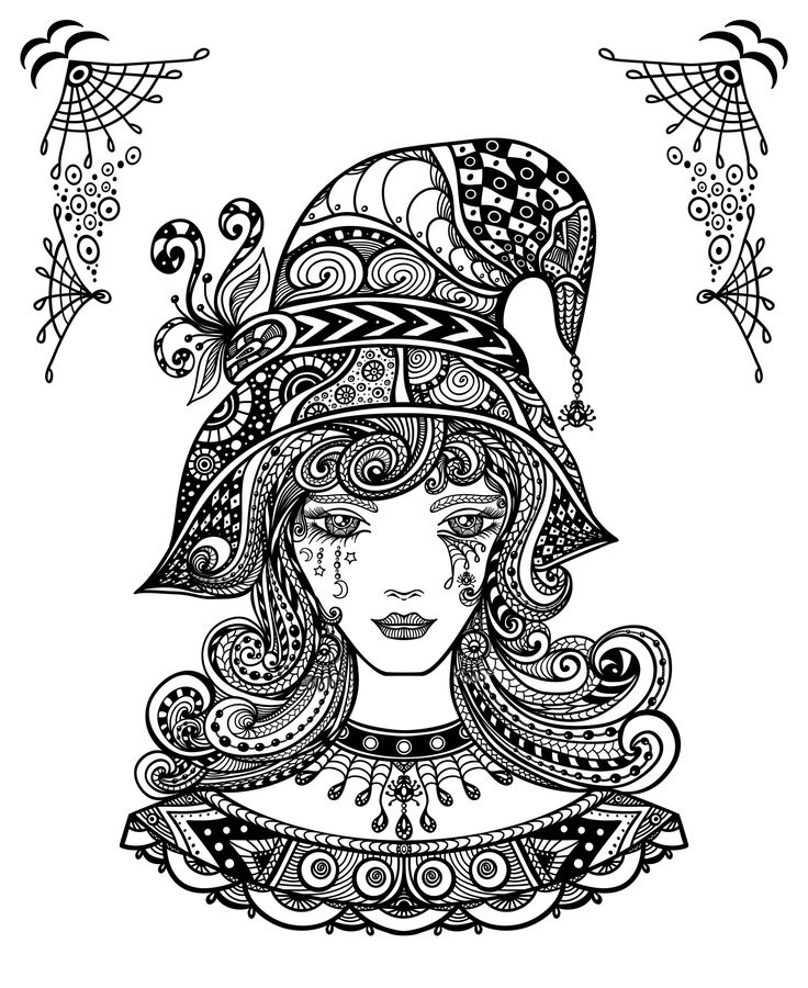 252 best coloring pages - Halloween images on Pinterest | Adult ...