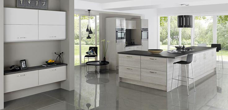 Kansas & Woodbury Grey. Stunning Modern Kitchen Designed to Inspire!  http://www.academyhome.co.uk/products/kitchens/kitchen-ranges/modern