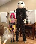 Jack and Sally Skellington Couple Costume - 2013 Halloween Costume Contest