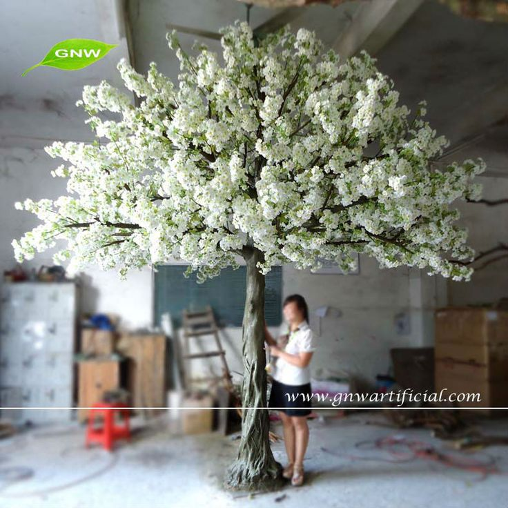Source BLS038 2 GNW Wedding Tree Artificial Cherry Blossom 13ft White Color For Decoration On