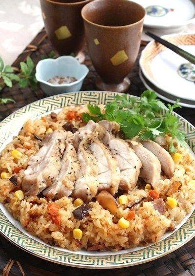 チキンも一緒に炊飯器でらくらく中華おこわ by お美津さん | レシピ ...