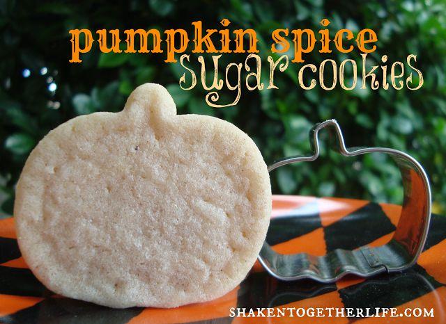 pumpkin spice sugar cookies - refrigerated sugar cookie dough and pumpkin spice