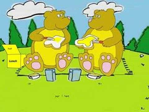Ik zag twee beren broodjes smeren (Filmpje) - Filmpjes kijken op Minipret.nl