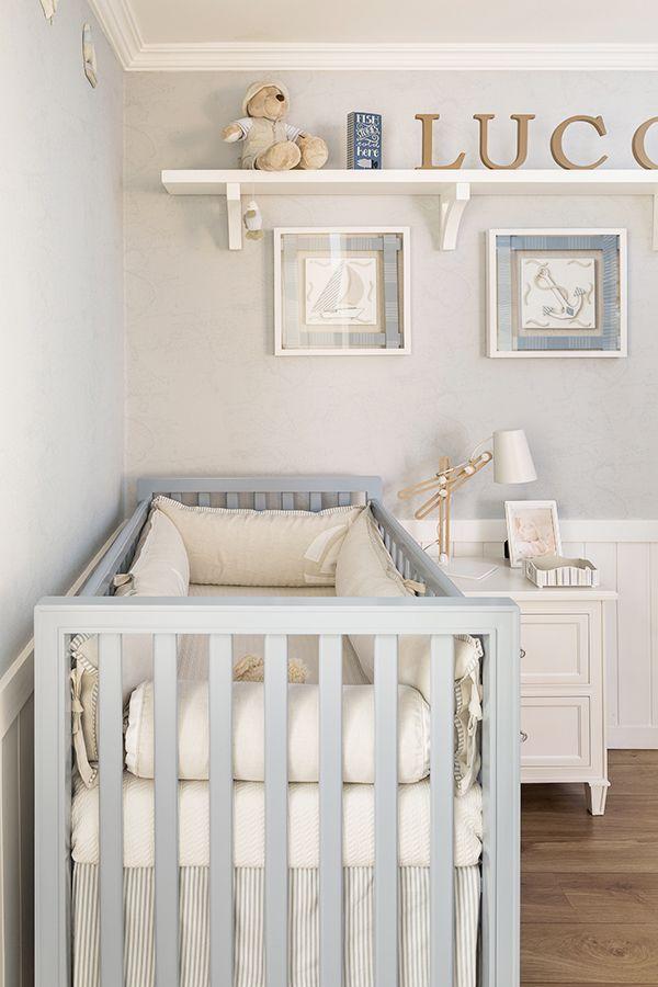 Com móveis e acessórios da Ri-Pô-Pi, este quarto de bebê ficou uma graça e trouxe várias referências do mar. Vem ver todas as fotos!