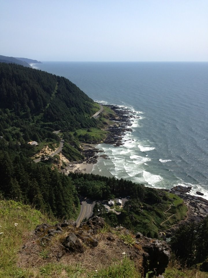 Cape Perpetua the highest point on the