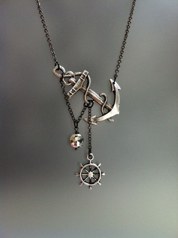 Cool anchor necklace.