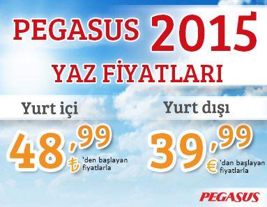 #Ucakbileti #Ucuzucakbileti - #Kampanyalar, #Pegasus - Pegasus Fırsatları ile 2015 Yazına Avantajlı Girin - http://www.alobilet.com/kampanyalar/pegasus-firsatlari-ile-2015-yazina-avantajli-girin - 26 Ekim 2014 tarihin'e kadar biletinizi alın Pegaus fırsatları ile yaza avantajlarla girin. 29 Mart – 24 Ekim 2015 tarihlerinde yapacağınız seyahatlerde Yurtiçi uçuşları 48,99 TL'den, Yurtdışı uçuşları ise 39,99 TL'den başlayan fiyatlarla.  Koşullar;