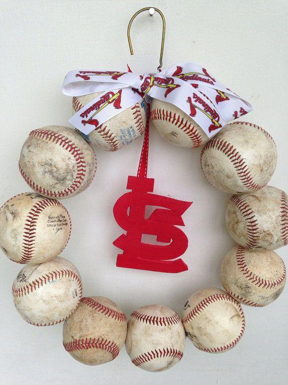 Saint Louis Cardinals Baseball Wreath by HartFilledDesigns on Etsy