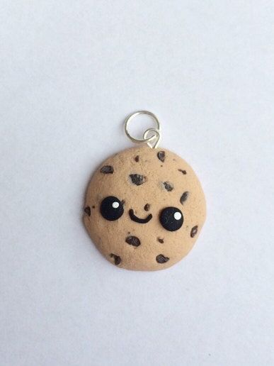 Polymer clay kawaii cookie charm