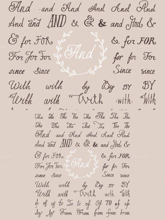 Hand lettered set of ampersands. Fonts. $6.00