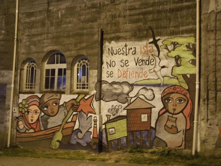 Mural en el centro de Ancud