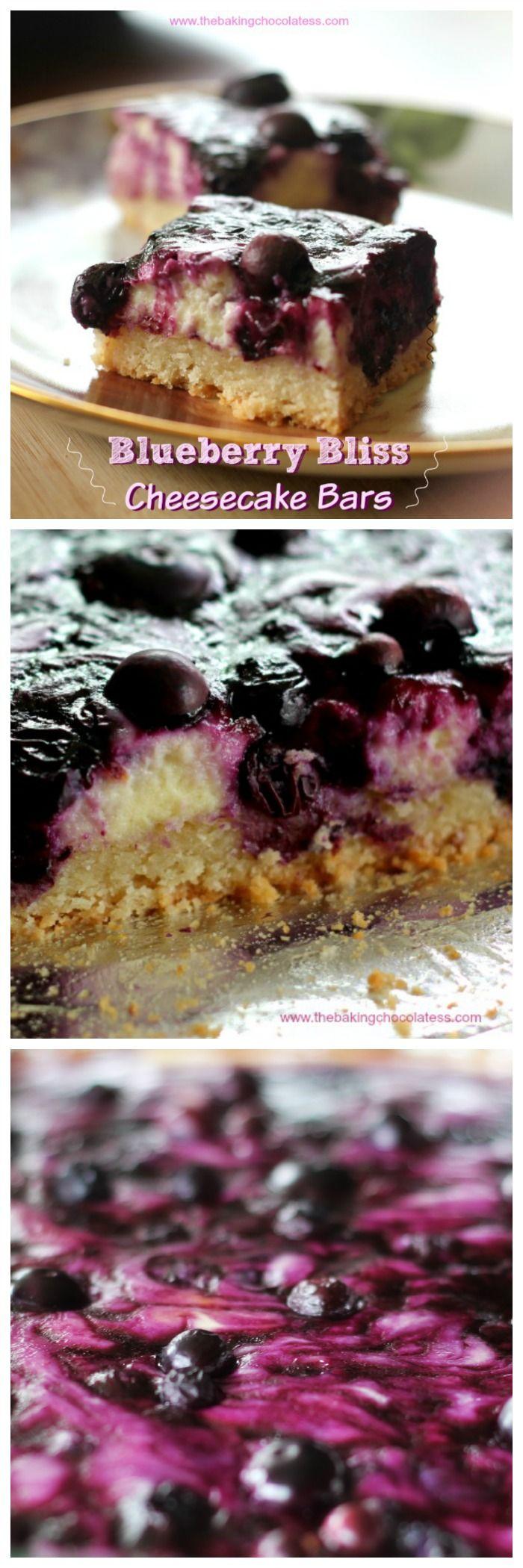 Blueberry Lemon Bliss Cheesecake Bars