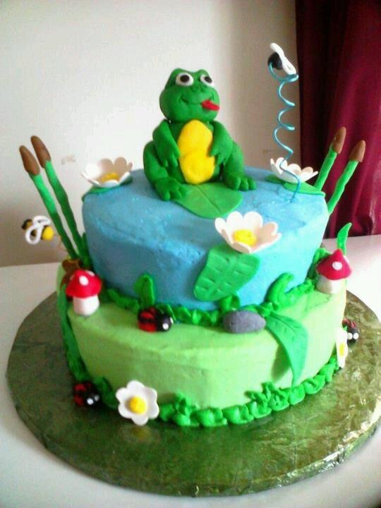 Easy Frog Cake