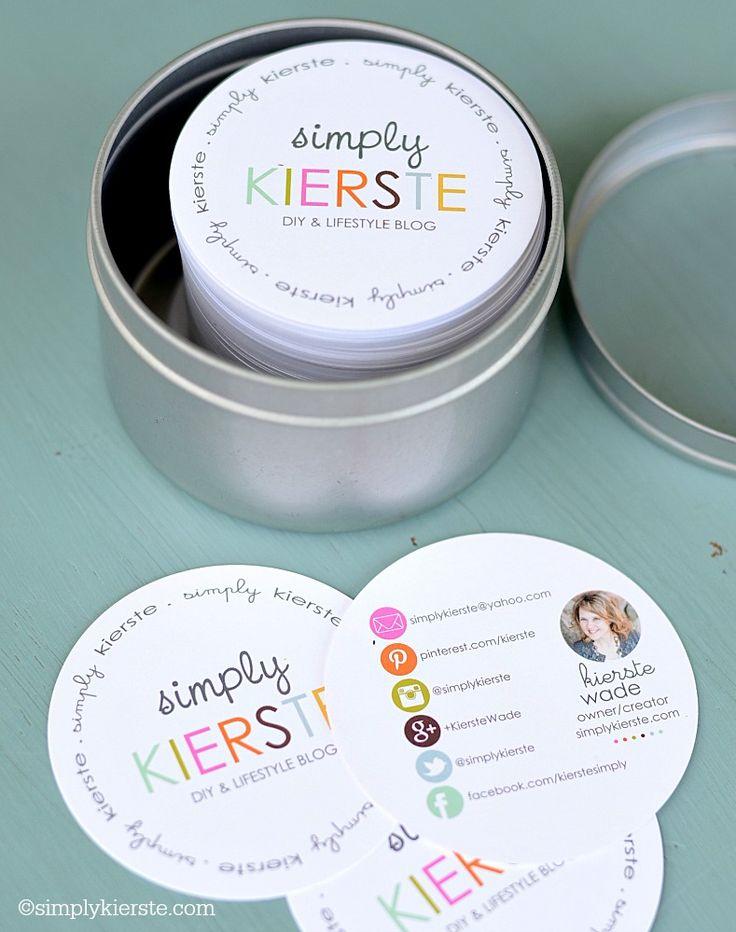blogger business cards | simplykierste.com