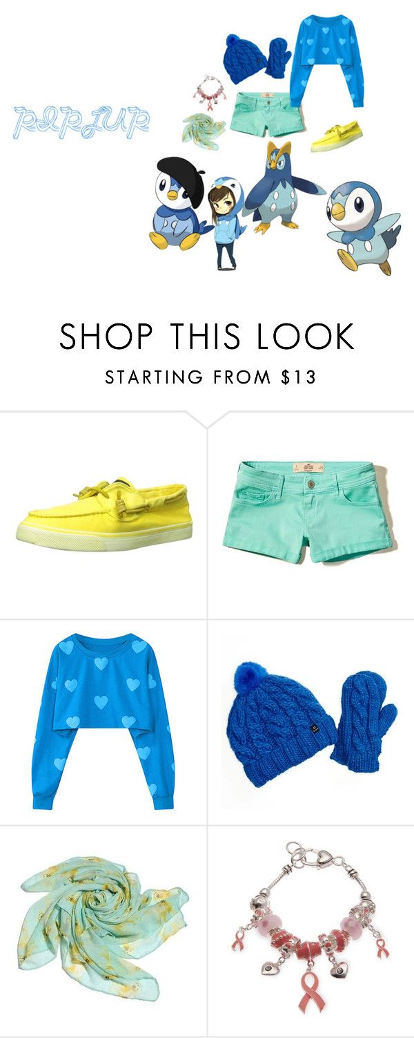"""""""Piplup"""" by mandalinaqitrydewi on Polyvore featuring Sperry, Hollister Co., Chaos and Kim Rogers"""