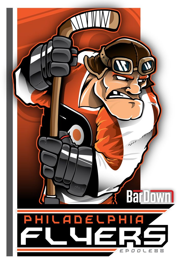 Our good friend #EPoole88 (Eric Poole) is getting ready for the upcoming season with cartoon renderings of each team. This is the Philadelphia Flyers. #TSN #BarDown