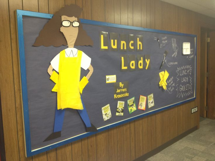 Lunch Lady Greets The Students Outside Of The Library At