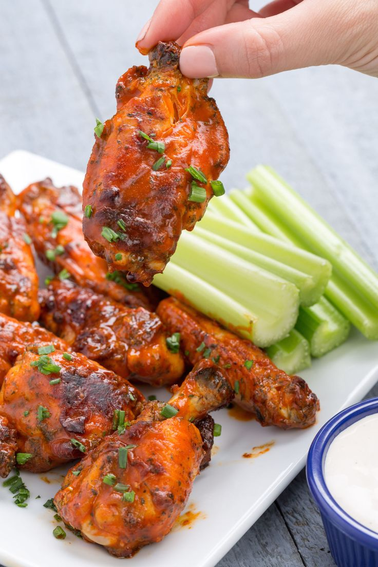 Slow Cooker Buffalo Ranch Chicken Wings- Can't go wrong with a classic.