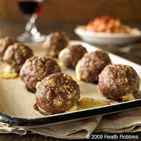 cheese stuffed meatballs | Favorite Recipes | Pinterest