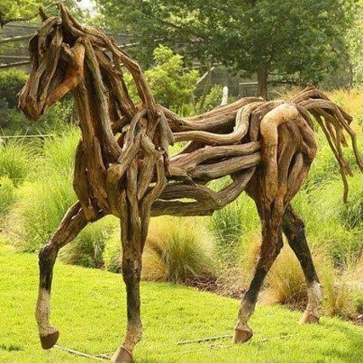 Rogue Warhorse?Wood Art, Found Object Art, Driftwood, Gardens Sculpture, Profile Pictures, Hors Art, Wood Wood, Yards Art, Wooden Hors