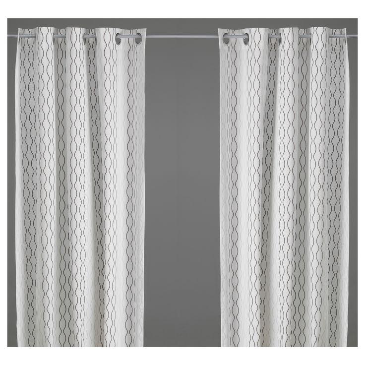 HENNY RAND Curtains, 1 pair - IKEA